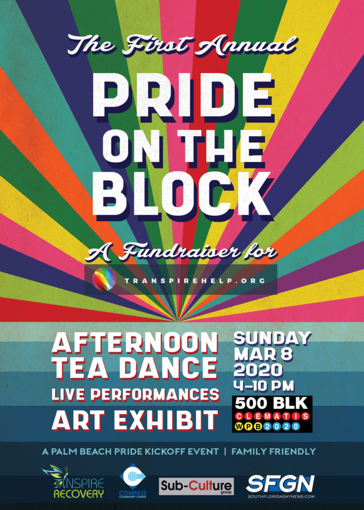 Transpire Help Fundraiser Pride on the BLK, LGBTQ nonprofit organization.