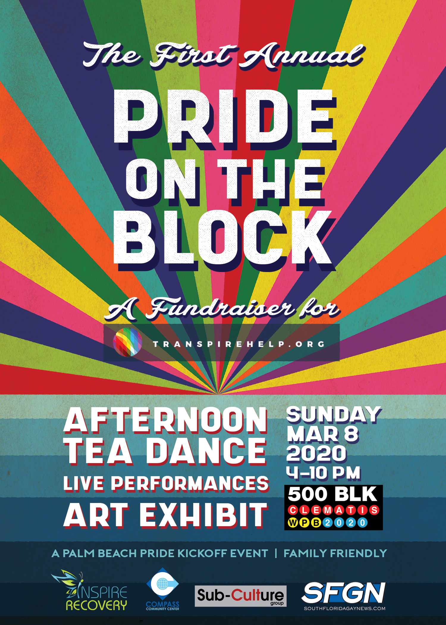 Transpire Help Fundraiser Pride on the Block 2020 Poster