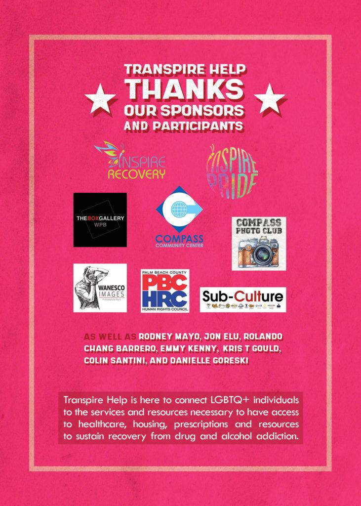 Transpire Help Fundraiser Sponsors for Pride on the BLK 2020